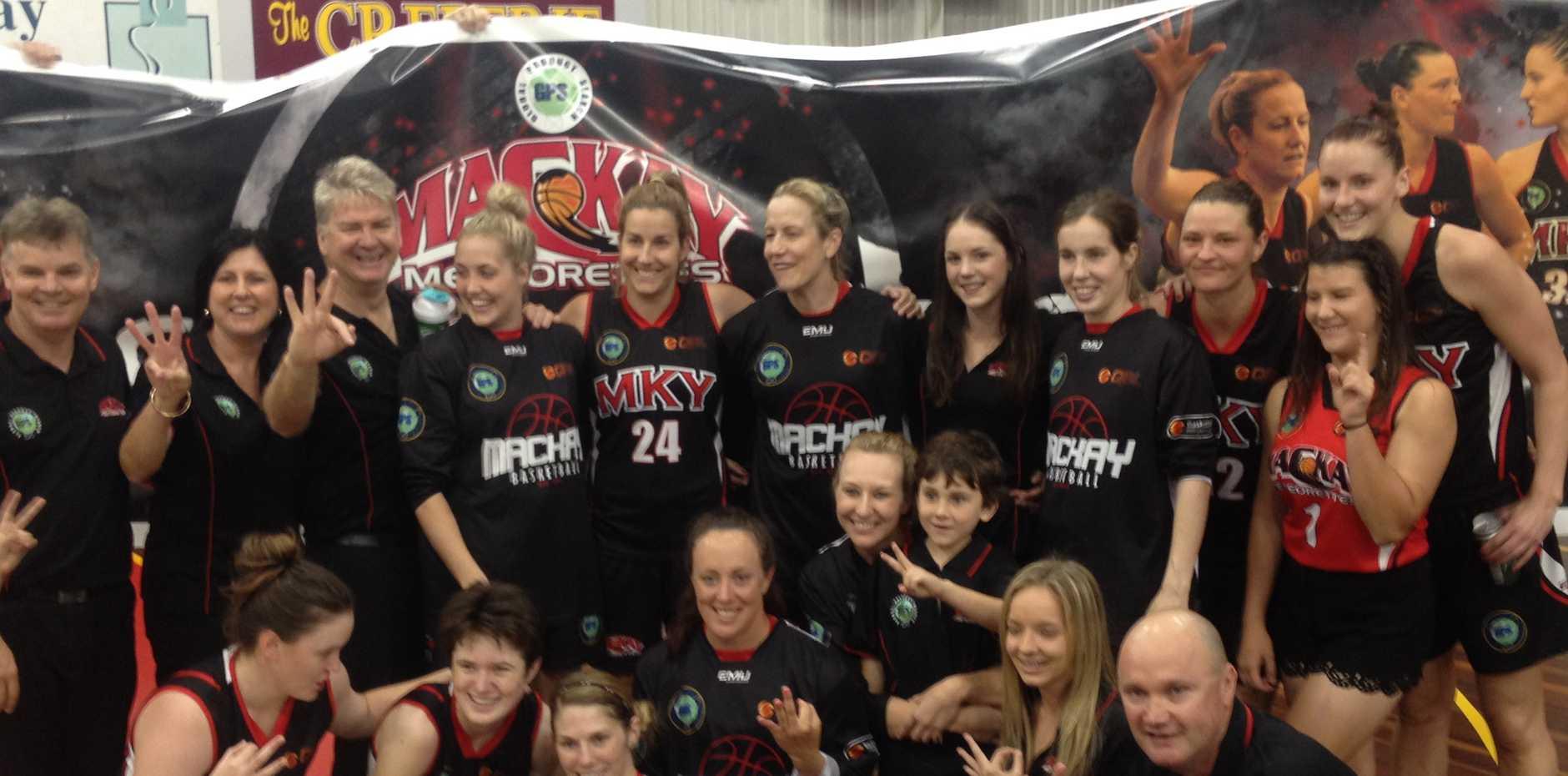 QBL-winning Mackay Meteorettes team.