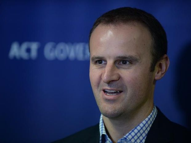 ACT treasurer Andrew Barr speaks to the media during a press conference in Canberra, Friday, Nov. 22, 2013. The ACT government has announced its intention to sell the territory owned betting agency ACTTAB.