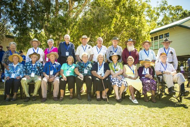 The class of 1926 at the Ambrose State School centenary.