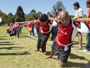 Gruelling contest in tug-of-war