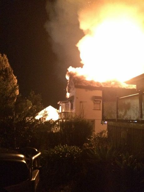 House fire in Hume St Toowoomba, 30th August 2014