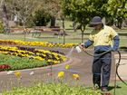 TRC gardener Ashley Whitehead is part of the team that help make Queens Park look beautiful.