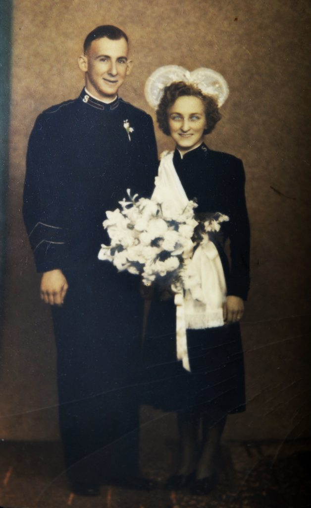 Eunice and Ray Auld are celebrating their 65th wedding anniversary on September 17. Photo: Contributed