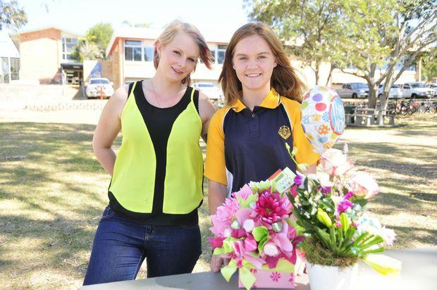 Chloe Sawyer and Gladstone High School student Madyson Goggi, 15.