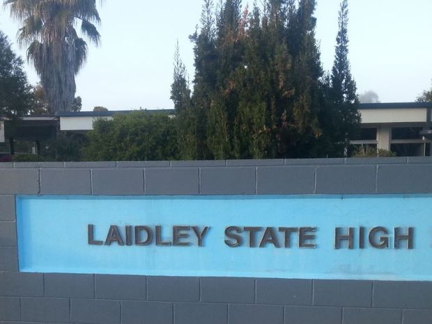 There was no obvious sign of outer damage at Laidley State High School this morning after an overnight fire.