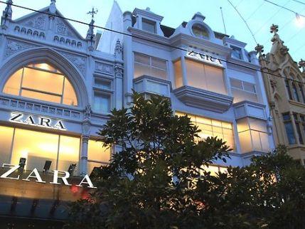 Fashion giant Zara's Melbourne GPO store