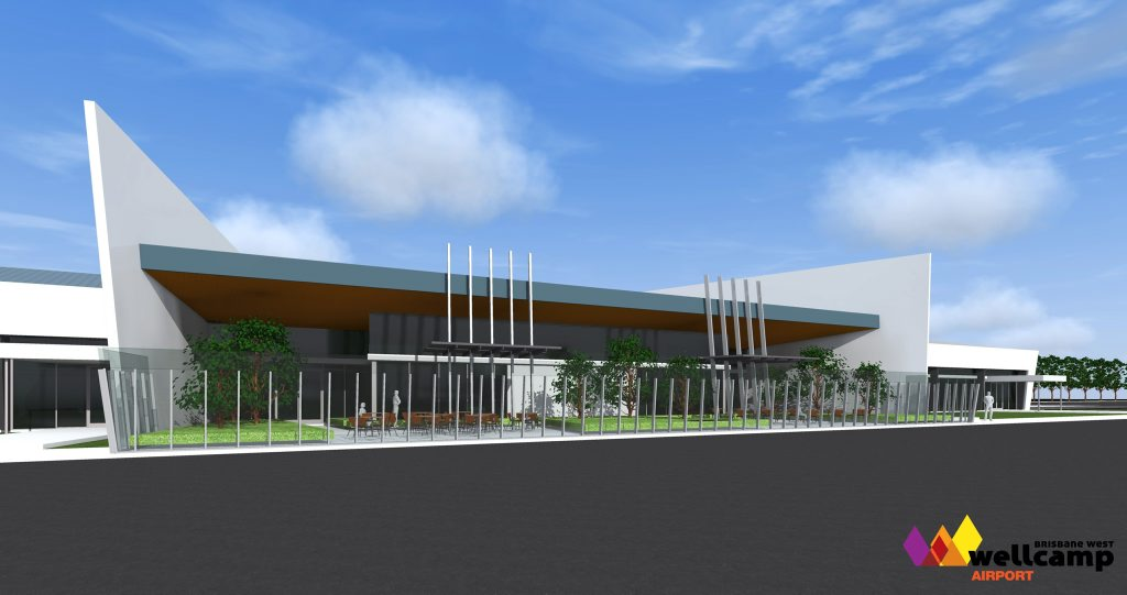 Original artist's impression of the Wellcamp Airport terminal.