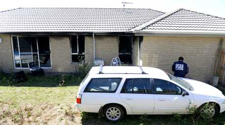 Fire at a property on Peregrine Drive in Lowood. Photo: Rob Williams / The Queensland Times