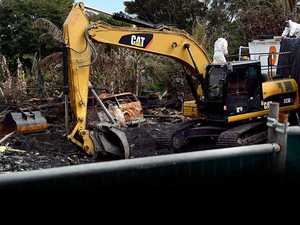 Nimbin community spaces remembered as fire ruins cleared
