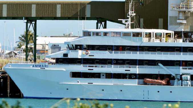 The Ammari docked in Mackay Photo Tony Martin / Daily Mercury
