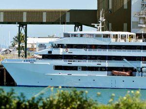 Hospital ship in port