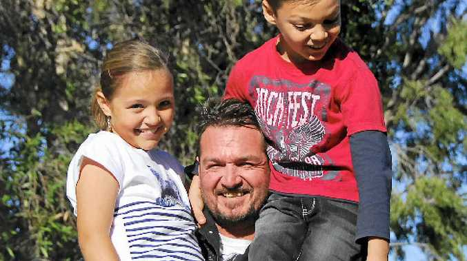 REAL LOVE: Kalli and Tolli Chamos say their Dad, Nickolas, is the best in the world and can't wait for Father's Day.