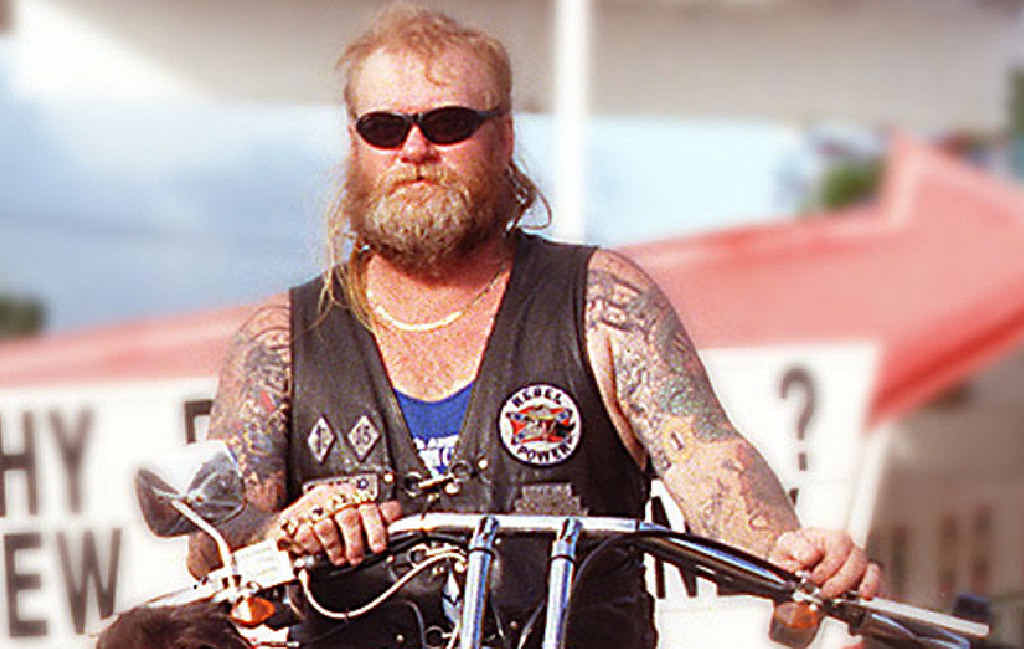 REBEL WITH A CAUSE: Senior Rockhampton Rebels bikie member Brendan O'Brien in a Morning Bulletin file photo.