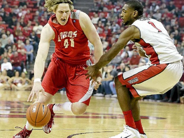Cameron Bairstow in action during an NCAA college basketball game earlier this year.