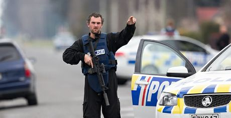 Scenes from the shooting that cost the lives of two welfare workers in the New Zealand town of Ashburton