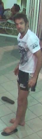 Police wish to speak to this man regarding the damage of a CCTV camera in Mackay's CBD.