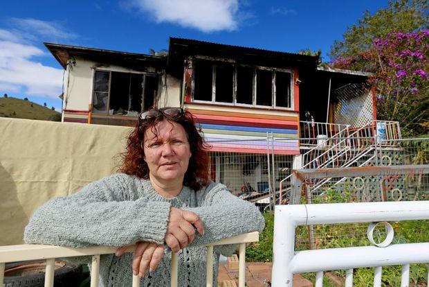 Carol Baggerman is devistated that her house burnt down in Mooball. Photo: Nolan Verheij-Full / Tweed Daily News