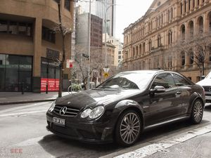 The menacing 2008 Mercedes-Benz CLK 63 AMG Black Series