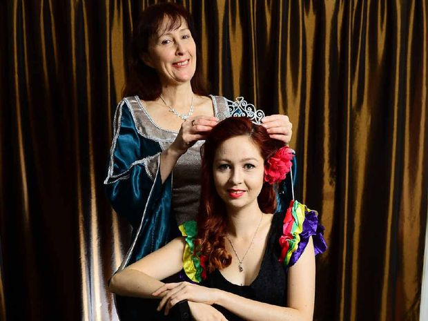 STARS: Karen Murray is producing the burlesque show and competition Queen of Seduction, in which her daughter Sarina Clark stars.
