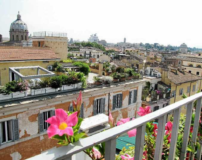 GLORIOUS VIEW: The amazing 360-degree view from the penthouse terrace over Rome's historic domes and rooftops.