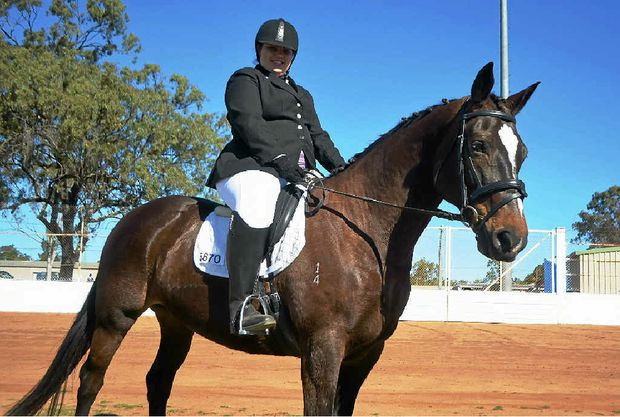 RIDING HIGH: Chantal Simpson has her eyes on a national spot.