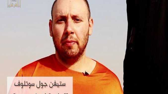 Steve Sotloff, before the purported beheading, in the latest video released by Islamic State