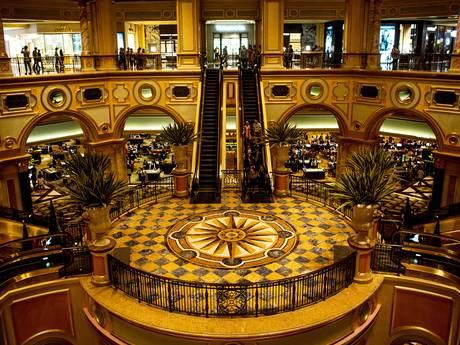 Grand Hall at the Venetian casino in Macau