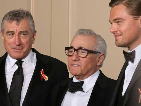 Robert De Niro, Martin Scorsese and DiCaprio, at an awards show in 2010