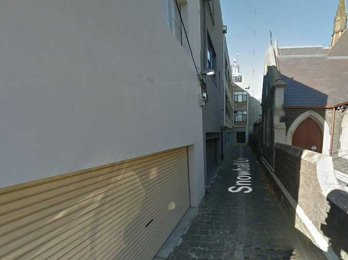 The Melbourne laneway where a woman was allegedly gang raped