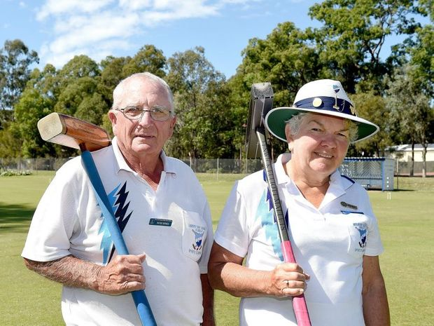 Hervey Bay Croquet anad Mallet Sportsd Club - Vice President Peter Spinks and Treasurer Ruth White have taken out the state ricochet doules championships in their first attempt at the title.