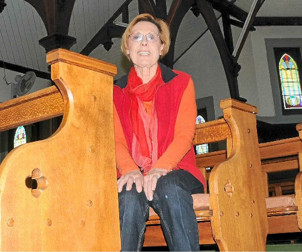 WELCOME: Sandy Green said visitors were welcome to use Laidley Anglican Church on the festival weekend.