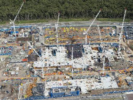 Aerial shot of the Sunshine Coast Public University Hospital site, taken March 20, 2014.
