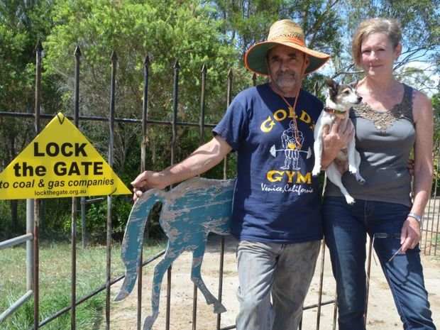 Deb Edwards (seen here with husband Dave at the gate of their Mt Beppo property) says 86% of local residents want a