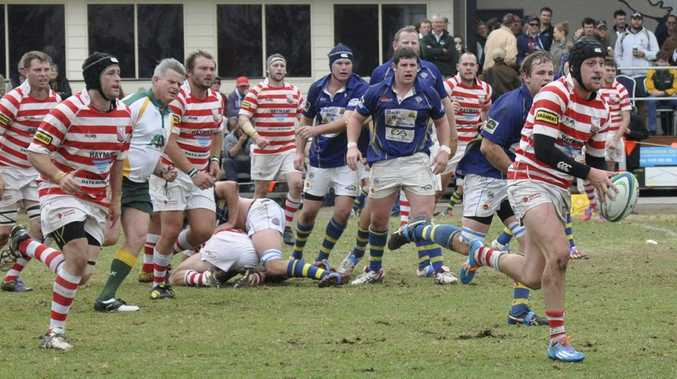 Toowoomba Rangers on the attack against Dalby in their semi-final meeting two weeks ago.