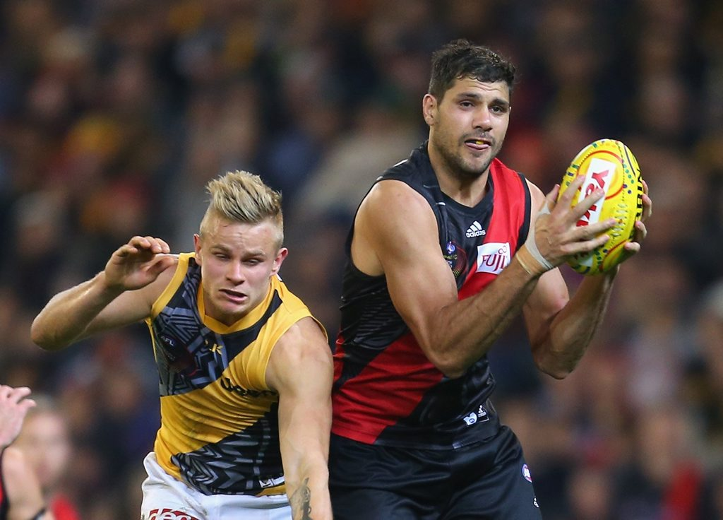 Essendon's Paddy Ryder in action