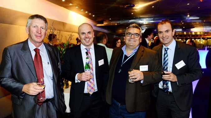 (from left) Wagners director Denis Wagner, Clayton Cooke of APN, Victor Corones of Magna Global and APN editorial director Bryce Johns.