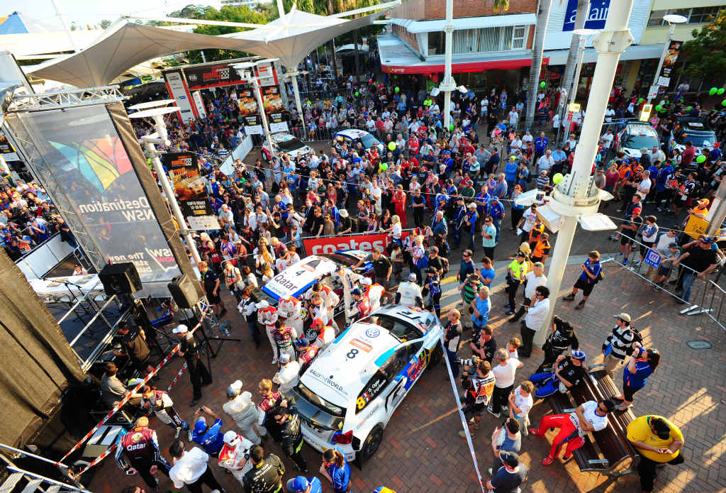 RALLY LAUNCH: Coates Hire Rally Australia starts with the rally show in the Coffs Harbour city centre on Thursday.