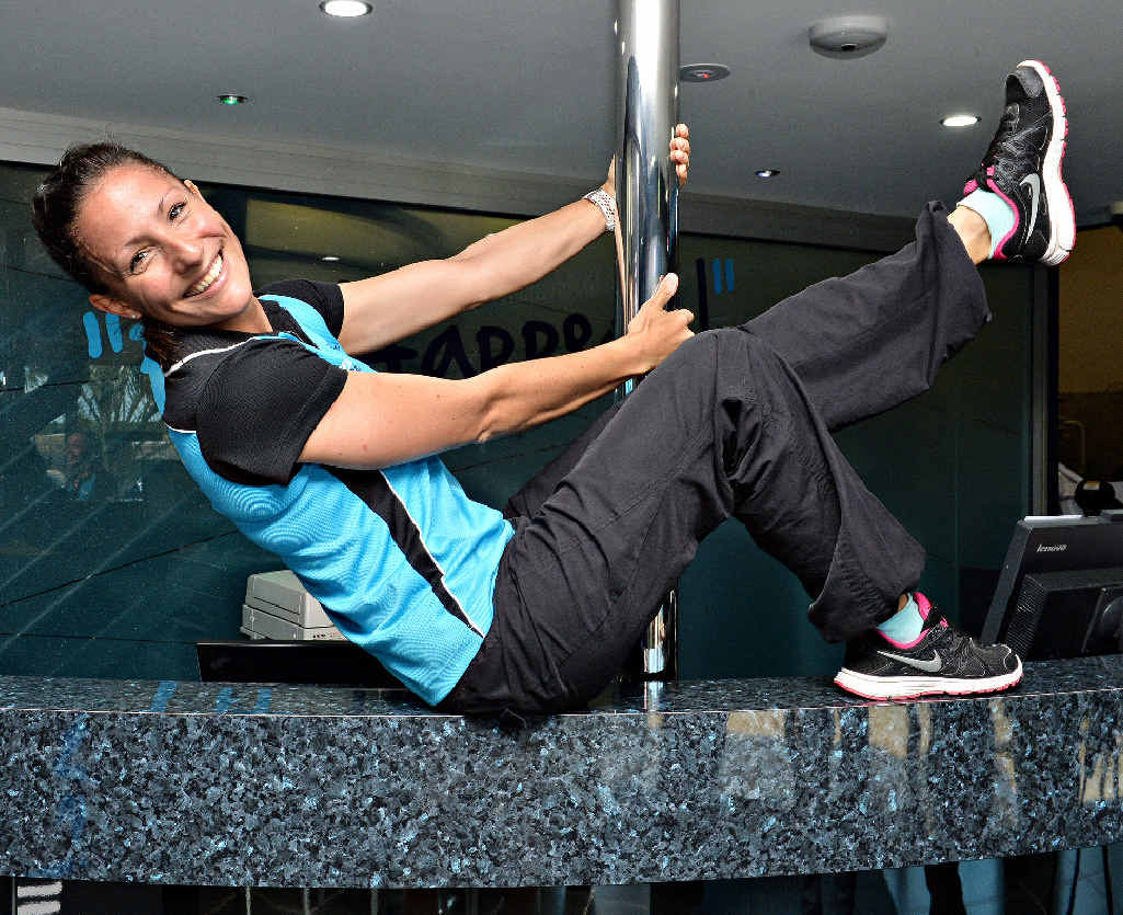 HEALTHY EVENT: Sabine Quist from City Fitness practises a routine ahead of the Mackay Lifestyle Expo.
