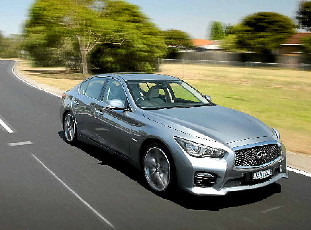 LOADED: The new Q50 comes with plenty of hi-tech toys.