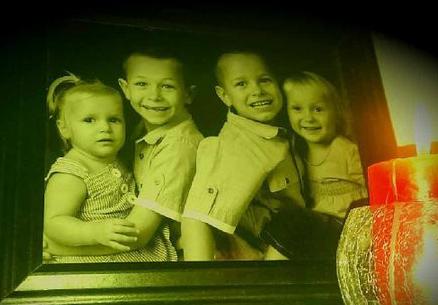 TRAGIC: Matilda, Eathan, Ryan and Joan in earlier years.