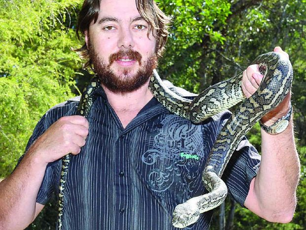 WORK TO DO: Matt Jolly, from Jolly Snake Catcher, says there has definitely been more snakes on the move since the start of September.