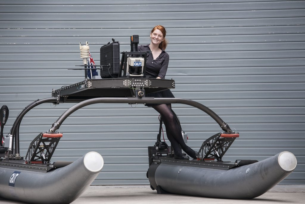 HIGH-TECH: Mechatronics engineering student Zoe Renando is part of a team heading to Singapore to compete in the Maritime RobotX Championships.