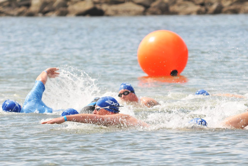 ACTIVITY IN TOWN: Visitors flocked to Yamba for the triathlon festival at the weekend.