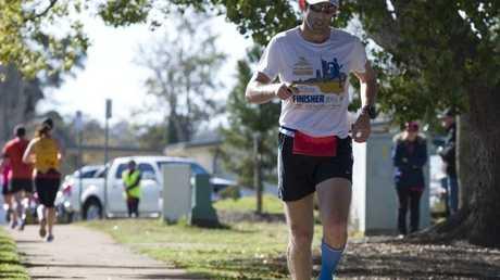 Toowoomba Road Runners Ridge 2 Ridge Half Marathon winner Adam Zahra, Sunday, September 07, 2014. Photo Kevin Farmer / The Chronicle