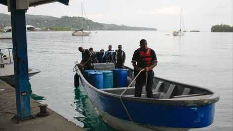 Members of Jamaica's Marine Police return to port after conducting a search Members of Jamaica's Marine Police return to port after conducting a search