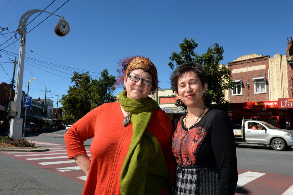 Marlena Basser and Carmen Stewart in Murwillumbah. Photo: John Gass / Tweed Daily News
