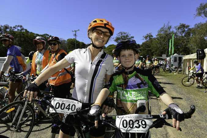 Jenny Cameron and son Ziggy Cameron, 11, from Maleny.