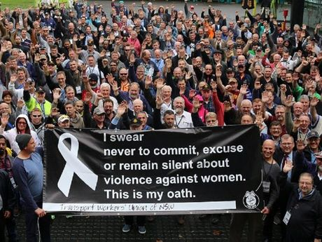 The TWU NSW pledge for White Ribbon Day. Photo Contributed