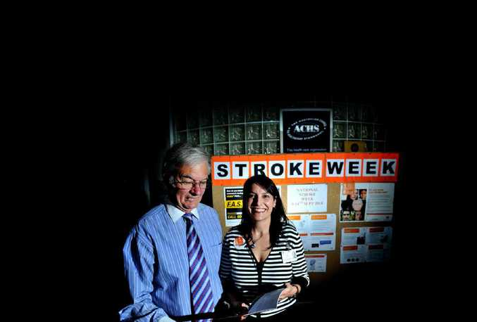 KEY WORK: Lismore Base Hospital stroke co-ordinator Kim Hoffman and stroke survivor Kelvin Stuckey are raising awareness of strokes and how to recognise them.