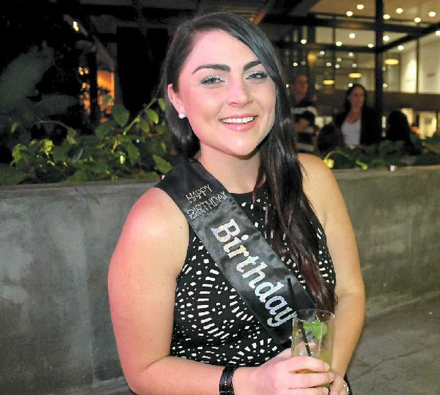 BIRTHDAY GIRL: Catherine Merritt kicked off her 21st birthday celebrations at the weekend at Lightbox Espresso and Wine Bar, Goondoon St.